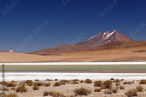 Foto op Aluminium Nachtblauw Bolivia desert landscape