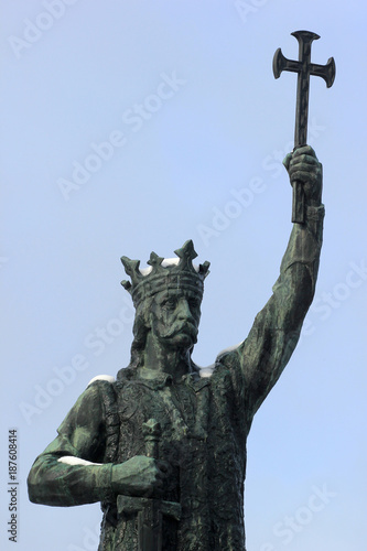 Fotografie, Obraz  Monument to Stefan cel Mare in Chisinau, Moldova