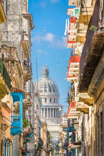 Poster de jardin Havana Havana, Cuba Capitolio