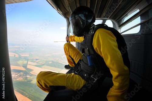 Fotografie, Obraz  Parachuting on sunny day