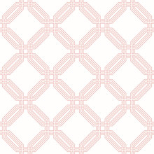 Geometric Abstract Pink Octago...