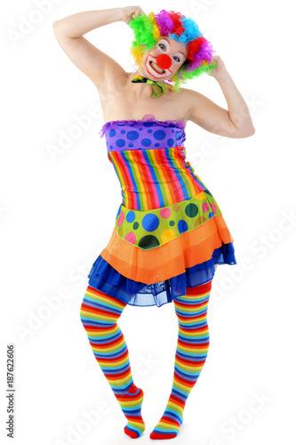 Clown Zu Karneval Fastnacht Oder Fasching Macht Spass Und Ist Lustig
