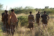 canvas print picture - bushmen of the kalahari desert in africa