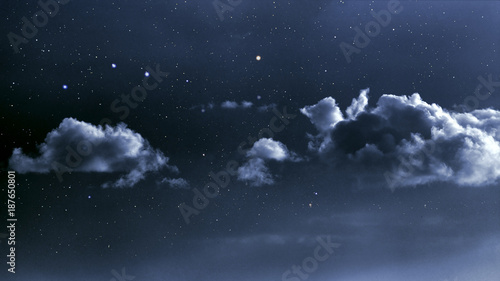 Fotobehang Nacht Cloudy night sky