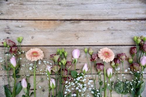 Blumenstrauß - Frühlingsblumen - Gerbera, Rosen
