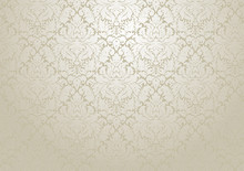 Vector Damask Wallpaper Design.  Seamless Repetitive Floral Decoration.  The Original Pattern In The Swatches Palette.