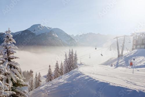 Fotografia, Obraz Morzine Ski Resort
