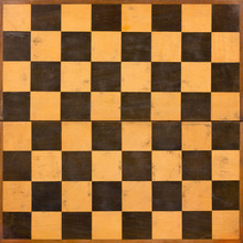 Old Foldable Wooden Chessboard