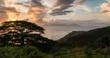 Timelapse Sunset Clouds Island Tahiti 4K