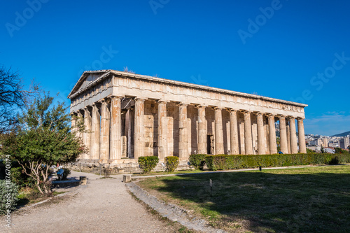 Photo  The Temple of Hephaestus or Hephaisteion is a well-preserved Greek temple in the western perimeter of the Agora