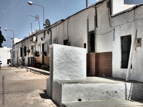 Los Albaricoques en Almeria (Andalucia,España),localidad de Níjar junto a Cabo d Canvas Print
