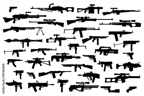 Firearms Wallpaper Mural