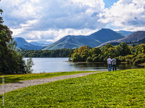 Fotografie, Tablou Enjoy a lake cruise on one of the Keswick Launches and experience the beauty of Derwentwater with breathtaking views of the surrounding fells