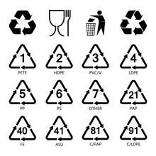 Packaging Symbols Set, Resin I...