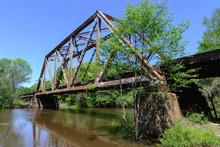 Old Metal Truss Railroad Bridg...