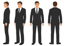 Fashion Man Isolated, Front, ...