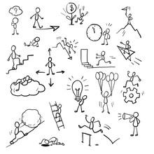 Business Doodle Concept.