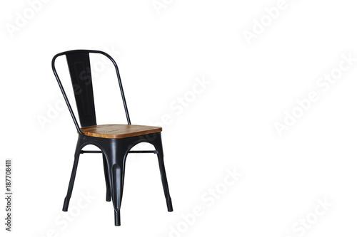 Fotografie, Obraz  Steel chair with light wood