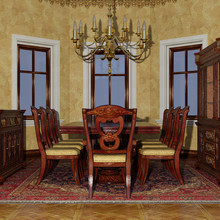 3D Rendering Victorian Dining ...