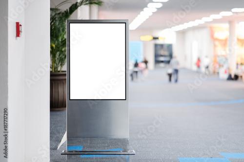 blank advertising billboard at airport. Plakát