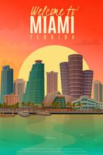 Evening Miami Poster