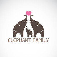 Vector Of Family Elephants And...