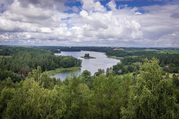 Fototapeta Jedzelewo Lake in Masuria Lakeland region of Poland