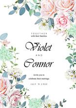 Wedding Invitation With Roses 1