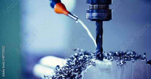 Fotomural  Finishing metal working on high precision grinding machine in workshop