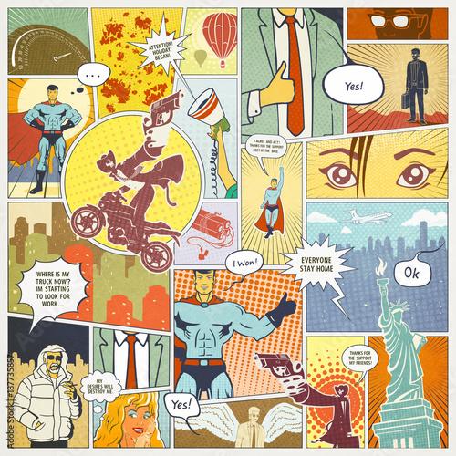 Page Comics Layout Concept