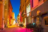 Fototapeta Uliczki - Street in the old town at night