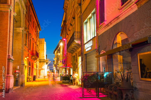 Canvas Prints Narrow alley Street in the old town at night