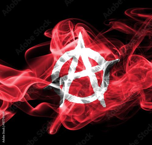 Valokuva  Anarchy smoke flag