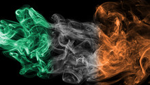 Ireland Flag Smoke