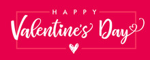 Lettering Happy Valentines Day...