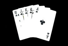 Playing Card Isolated. Five Pl...