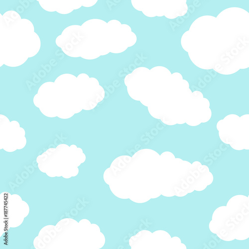 Poster Ciel Sky. Clouds. Blue. Background. Bright. Good weather. For your design.