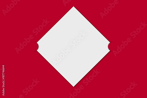 Blank Red And White Greetings Card Template Valentines