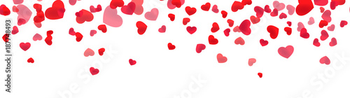 Festive heart banner design. St. Valentine's day decoration