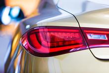 Macro View Of Modern Car Rear ...