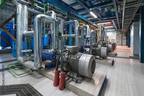 Pumps in a cogeneration station Fototapeta