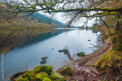Fotografie, Tablou  Landscapes alongh the shores of Loch Ness, a large, deep, freshwater loch in the Scottish Highlands southwest of Inverness