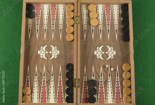 Stampa su Tela backgammon game with two dice