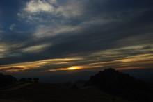 Sunrise Ant The Mist At  Doi Samer Dao In Nan  Thailand