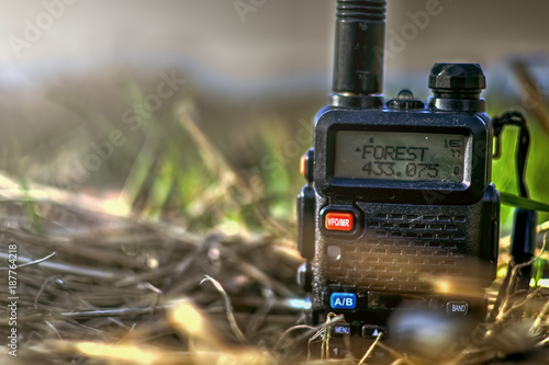 Valokuva  Walkie-talkie in the grass with