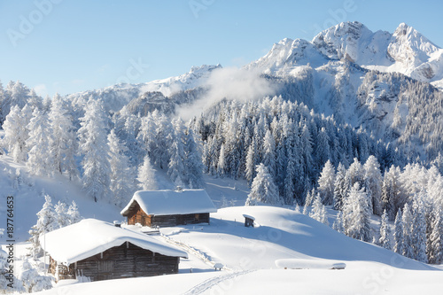 Winter wonderland in Austrian Alps Fototapeta
