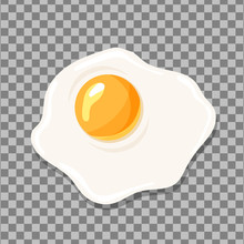 Fried Egg Isolated. Egg Vector...
