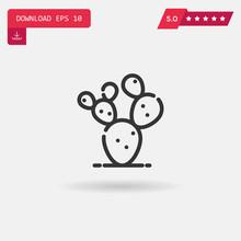 Prickly Pear Vector Icon