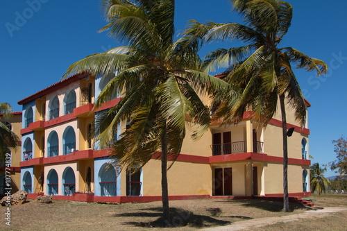 Aluminium Prints Brazil Hotel on Playa Ancon near Trinidad in Cuba