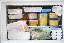A Freezer Packed With Chicken,...